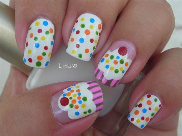 Cupcake Nails Nail Art Gallery