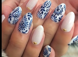 nail art: Blue