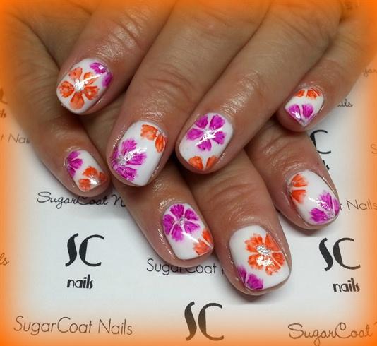 Sharpie Flowers Nail Art Gallery