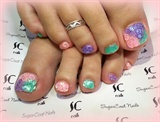 Pastel toes