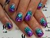 Teal & Purple chunky glitter