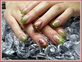 Green Glitter Fade