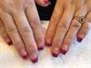 Acrylic Glitter Tip Nails