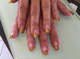 Gold Glitter Acrylic Tips