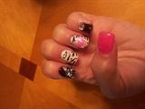 Girly zebra nails