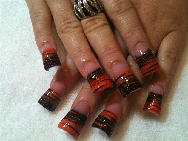 orange n black w/ stripes