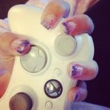 White With Purple Glitter