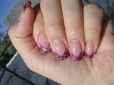 my first mylar gel nails