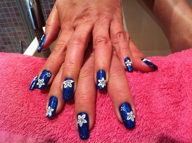 blue fowers