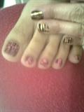 halloween toe pink inspired