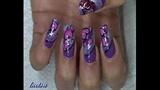 purple and hearts