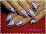 "Valentine's nailart ""Love letters"""