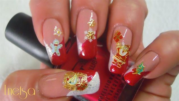 Christmas nails:)