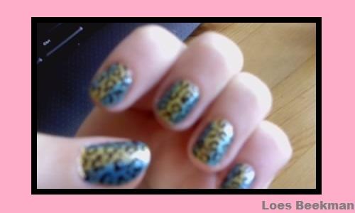 blue & yellow leopard