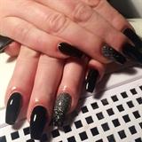 Svarta och glitter