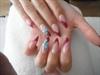 pink and blue stilleto