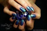 Uberchic Stamped Mermaid Nails