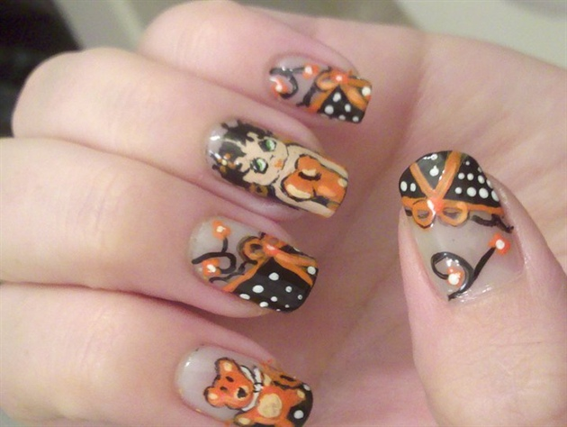 Betty Boop Inspired Nail Art Gallery