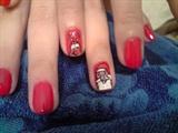Santa with Rudolph