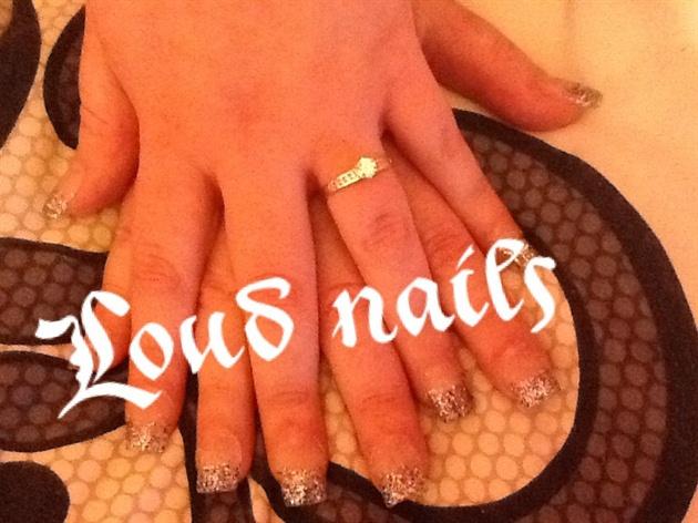 Glitter Tips Gel Nails