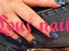 Gels Nails Painted Blue N Added Gems 😄
