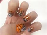 Tiger Nail Art