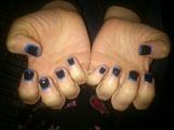 Black&Blue Border Nail Art