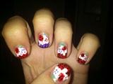 Skull Cherry Cupcake Nail Art