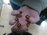 Crazy Orange Nail Art