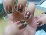 Brown&Leopard Nail Art