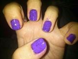 Violet Nail Art