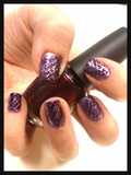Purple Snakeskin Nail Art