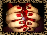 Cherry&Leopard St.Valentine´s Nail Art