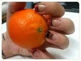 Cute Mandarin Nail Art