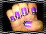 Cute Purple&Dots Nail Art