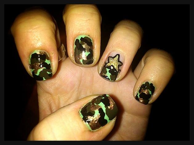 Army Nail Art Army Nail Art