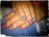 Matte Roses&Dots Nail Art
