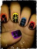 Abstract & Fluor Nail Art