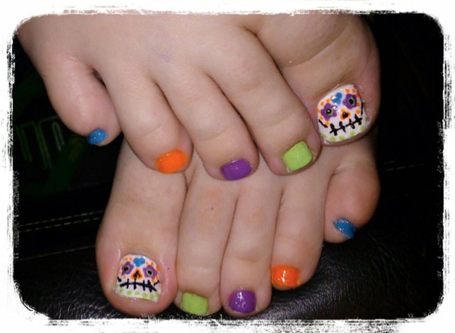 Sugar skull toes nail art nail art gallery prinsesfo Image collections