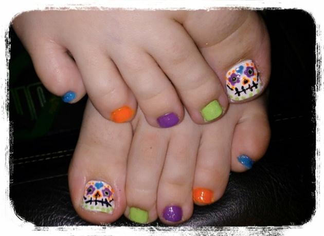 Sugar skull toes nail art nail art gallery sugar skull toes nail art prinsesfo Image collections