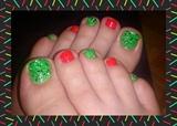Neon & Confetti Toes Nail Art