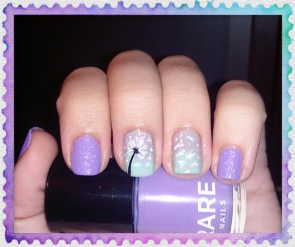 Dandelion nail art nail art gallery dandelion nail art prinsesfo Gallery