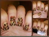 Fall Leopard Nail Art