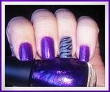 Glitter & Zebra Nail Art