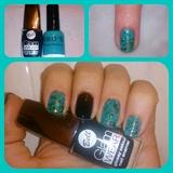Turquoise Stone Nail Art
