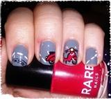Vespa Nail Art