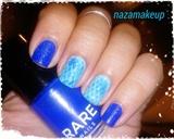 Blue Python Nail Art