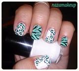 Wild Mint Nail Art