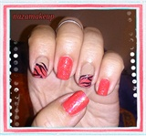 Spring Zebra Nail Art