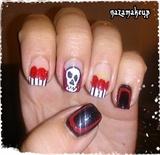 Skull & Roses Nail Art